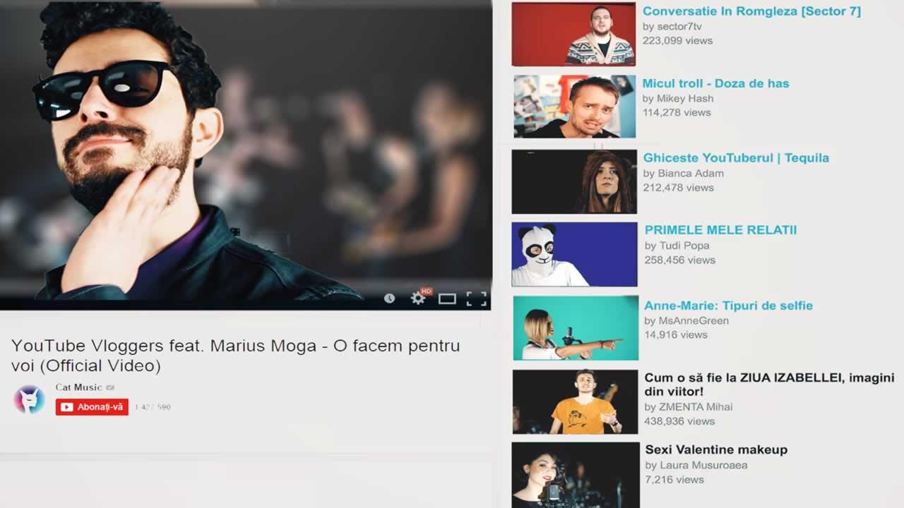 YouTube Vloggers feat. Marius Moga - O facem pentru voi