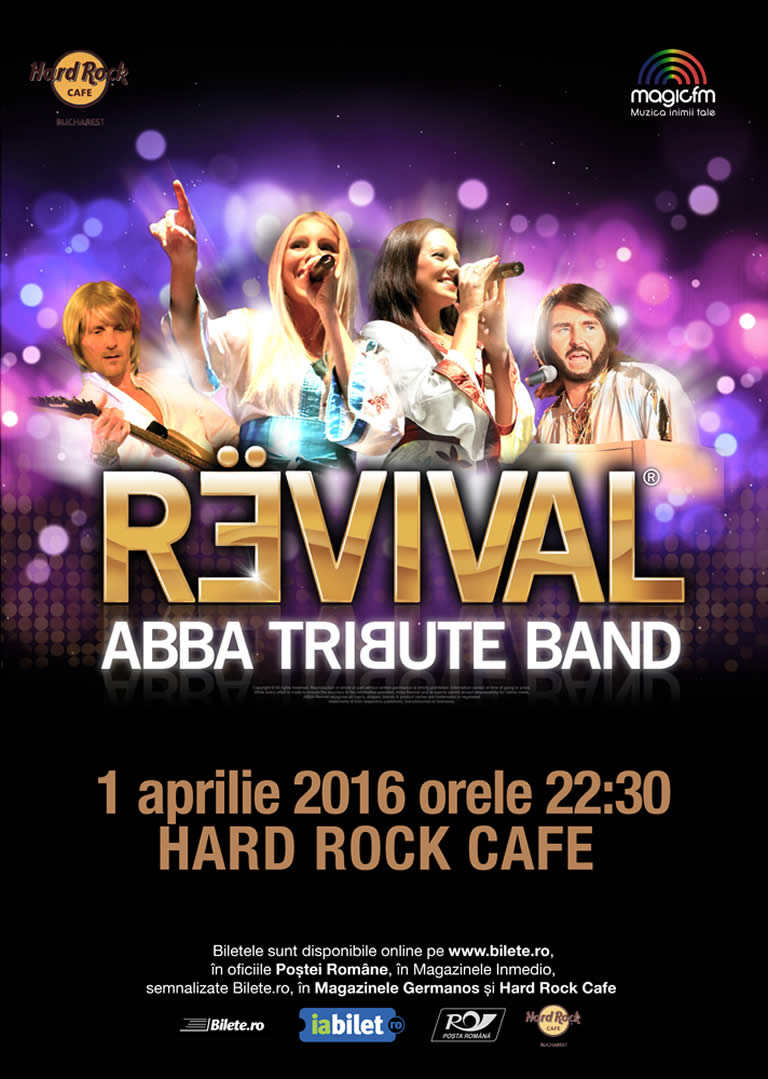 ABBA Tribute Band Revival - Concert Aprilie Hard Rock Cafe
