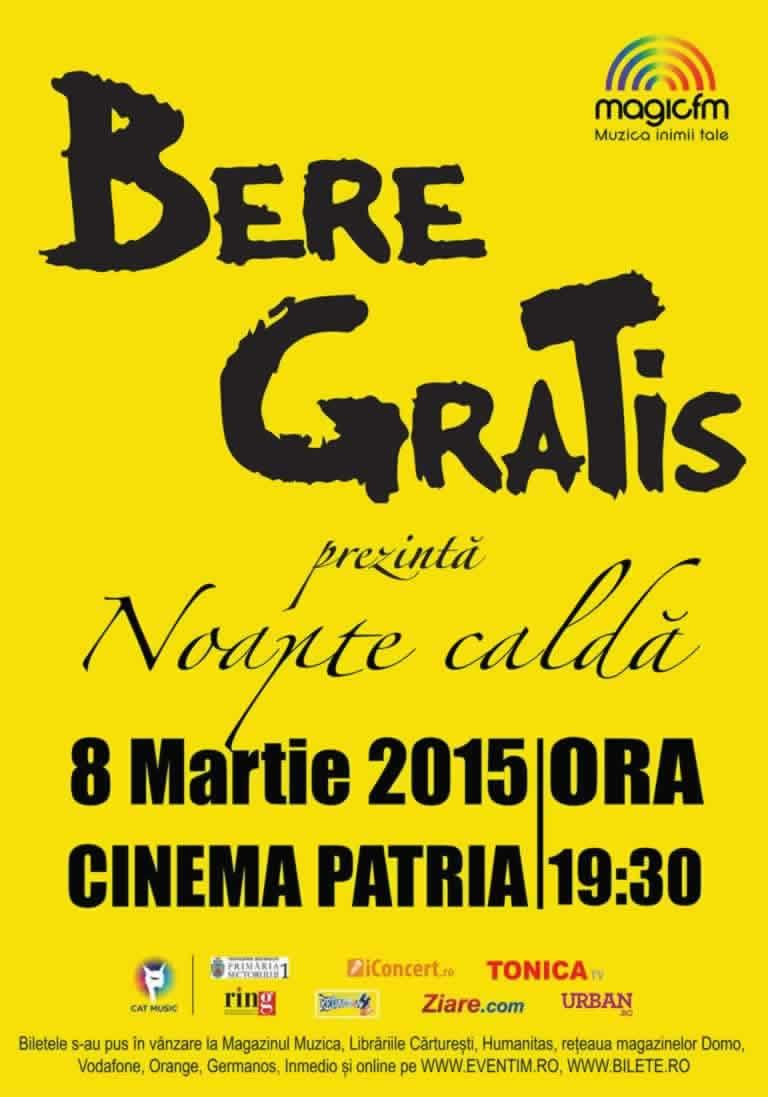 Bere Gratis Concert 8 martie - Cinema Patria