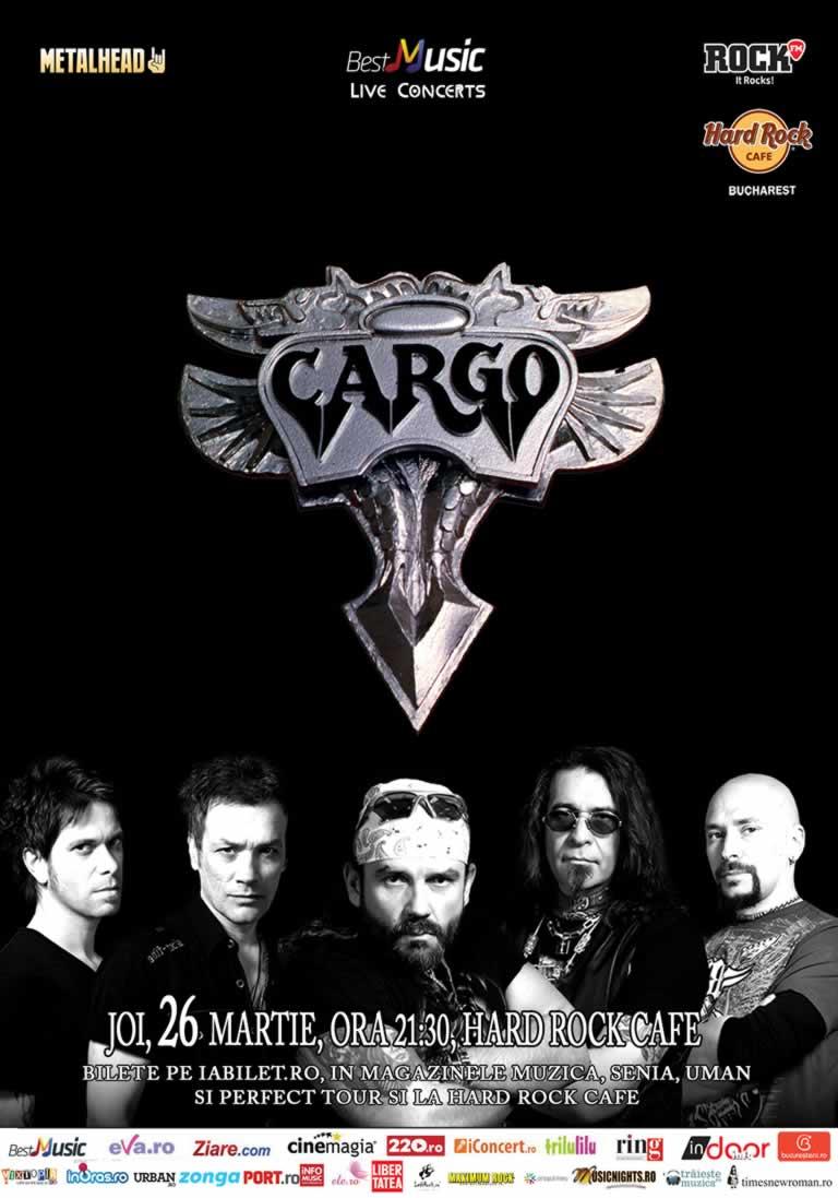 Concert Cargo - 26 martie - Hard Rock Cafe